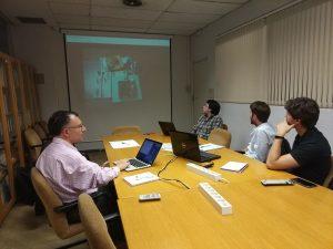 reunión coordinación proyecto en UPM