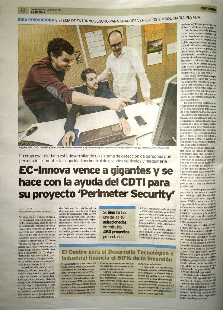 Noticia en La Tribuna de Toledo