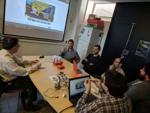 Miembros de EC-Innova y el Grupo GISAI reunidos en la UPM